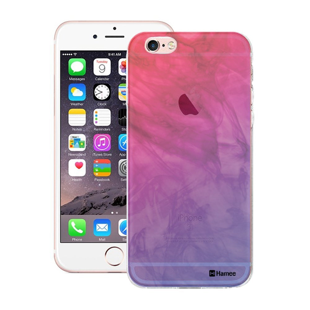 Hamee Pink Purple Translucent Mist Designer Cover For iPhone 5 / 5S / Se-Hamee India