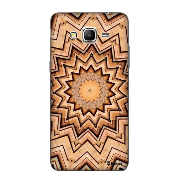 Hamee Brown Kaleidoscope Designer Cover For Samsung Galaxy J3 - Hamee India
