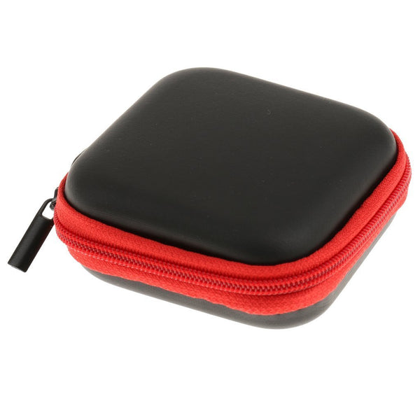 Mini Square Carrying Pouch for Earphones & Cables - Red-Hamee India