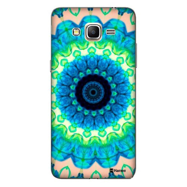 Hamee Blue Green Kaleidoscope Designer Cover For Samsung Galaxy J3 - Hamee India