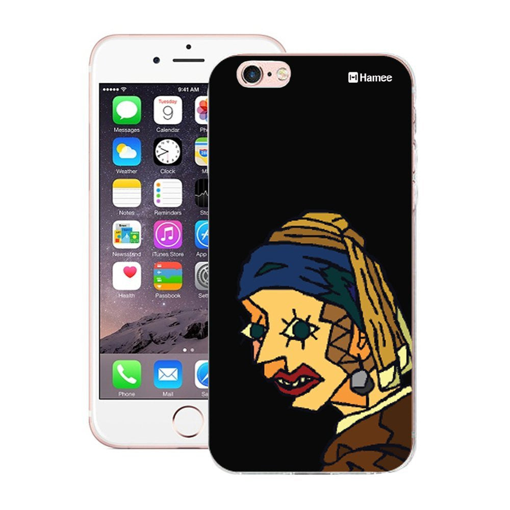 Hamee Peeping Lady Designer Cover For iPhone 5 / 5S / Se-Hamee India
