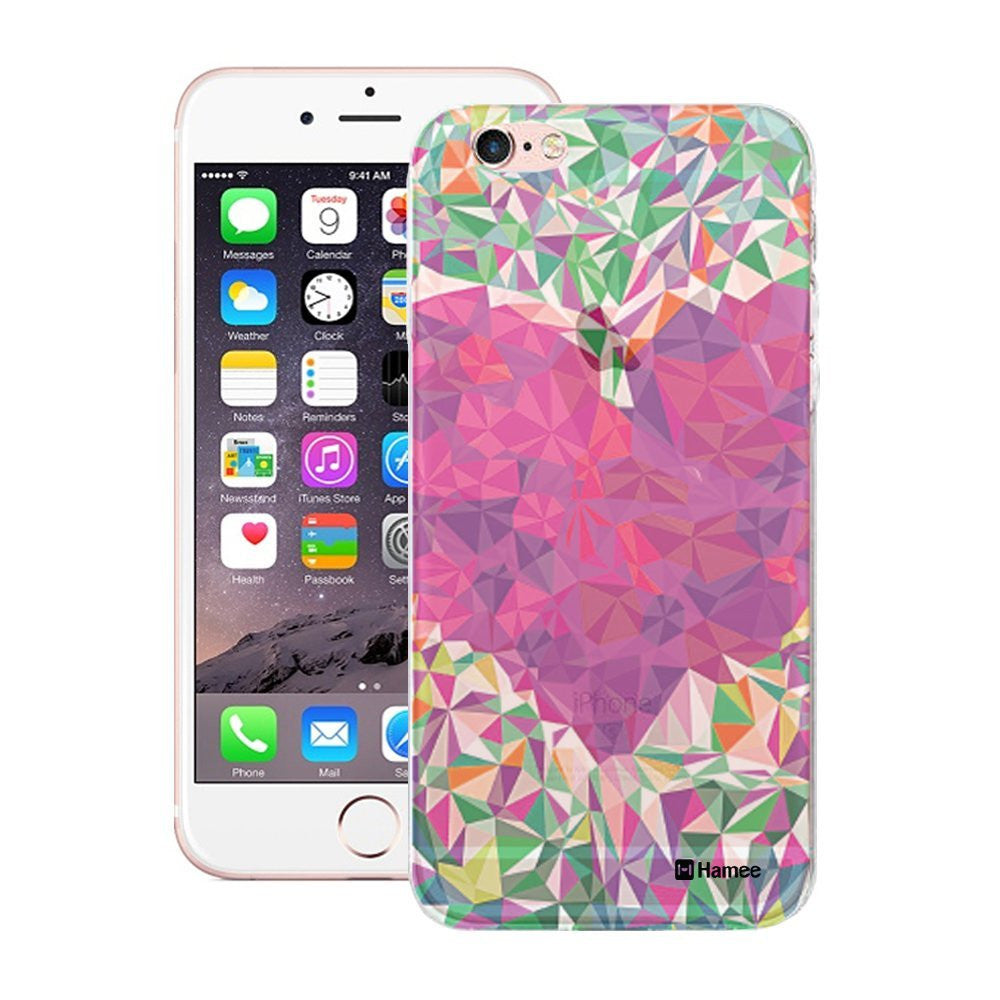 Hamee Translucent Crystal Heart Designer Cover For Apple iPhone 6 / 6S-Hamee India