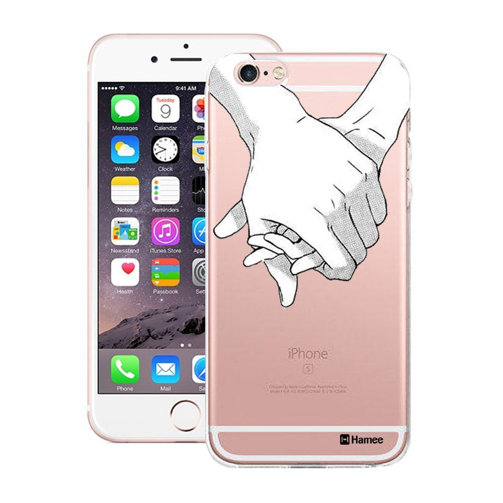 Hamee White Holding Hands Designer Cover For Apple iPhone 6 Plus / 6S Plus - Hamee India