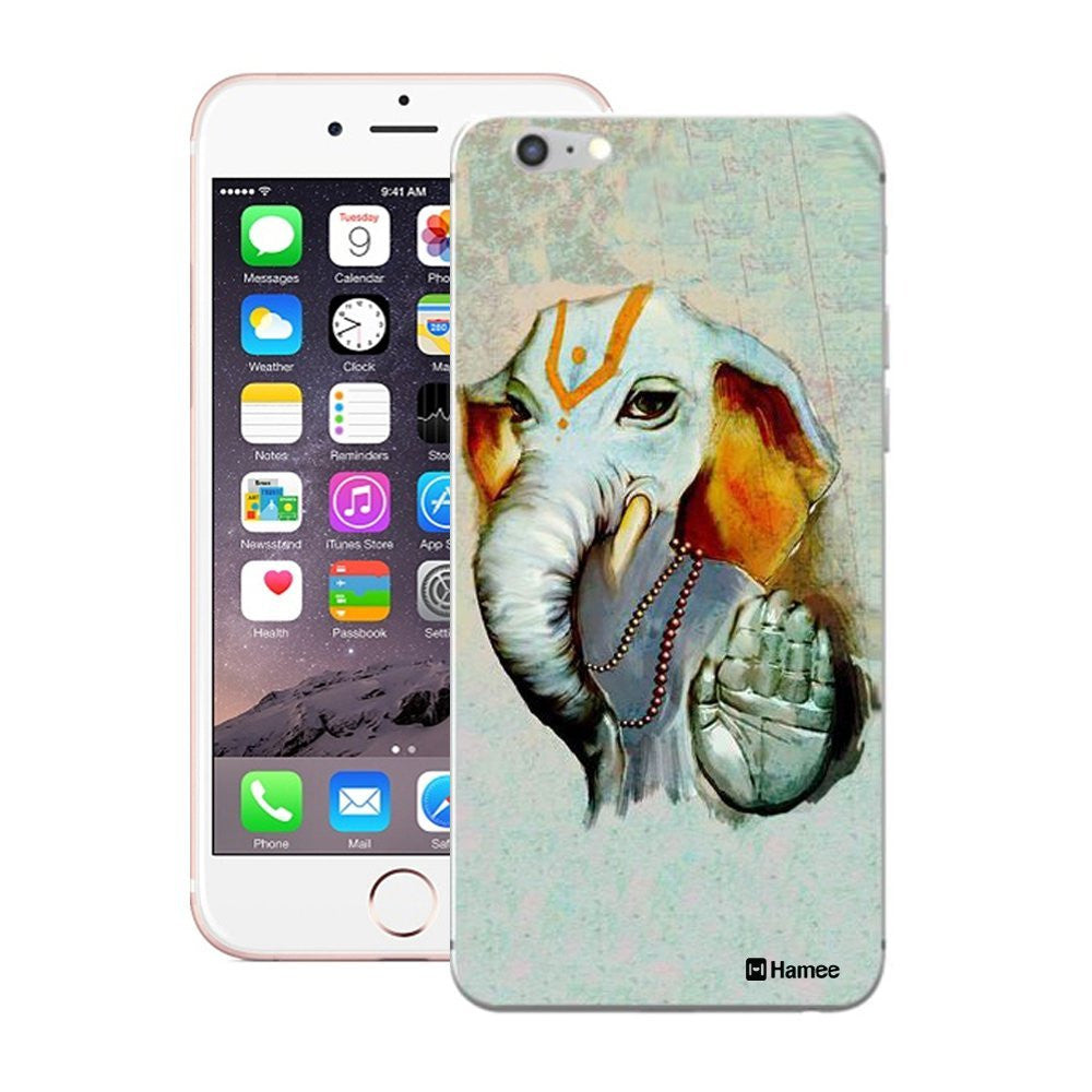 Hamee Ganesha Blessings / Grey Designer Cover For Apple iPhone 6 Plus / 6S Plus-Hamee India
