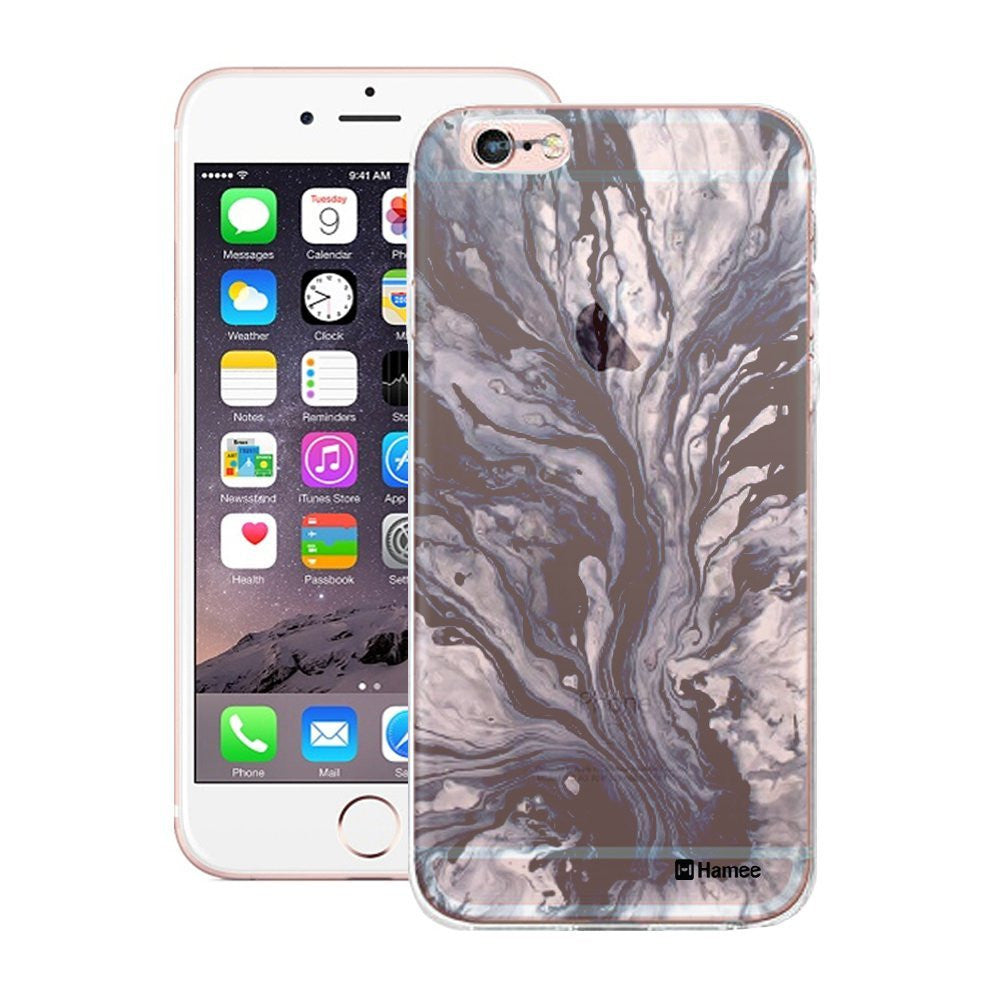 Hamee Blue Marbling Translucent Design Designer Cover For Apple iPhone 6 / 6S-Hamee India