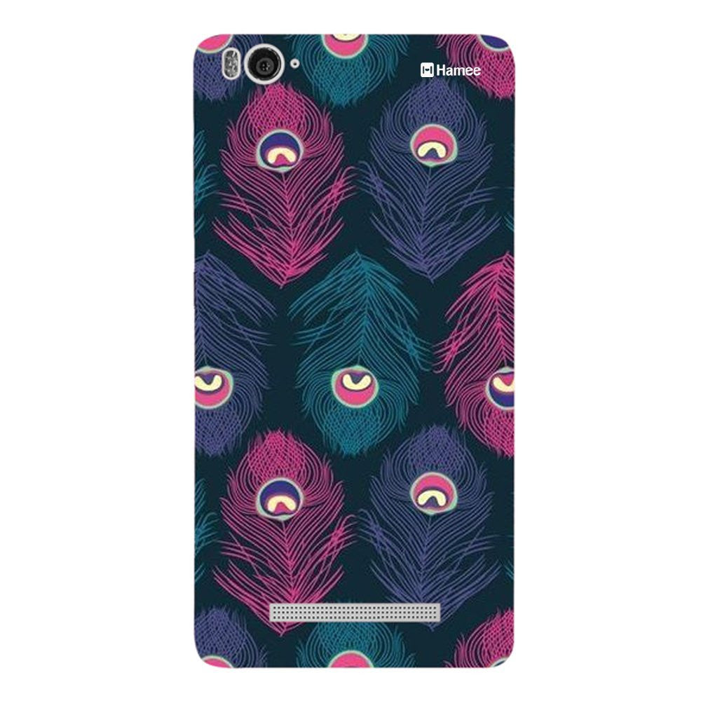 Hamee Purple Feathers Designer Cover For Xiaomi Redmi 3-Hamee India