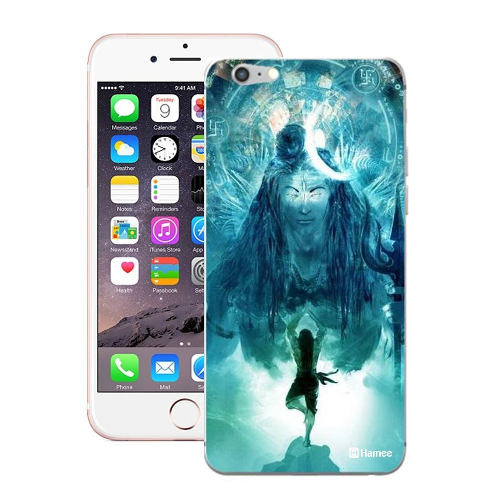 Hamee God Standing Blue Designer Cover For iPhone 5 / 5S / Se-Hamee India
