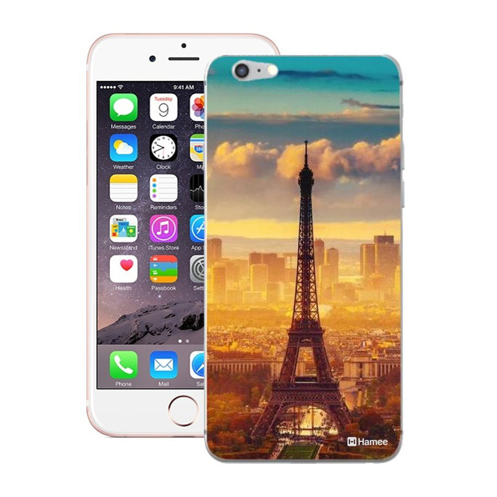 Hamee Orange Blue Eiffel Tower Designer Cover For iPhone 5 / 5S / Se - Hamee India