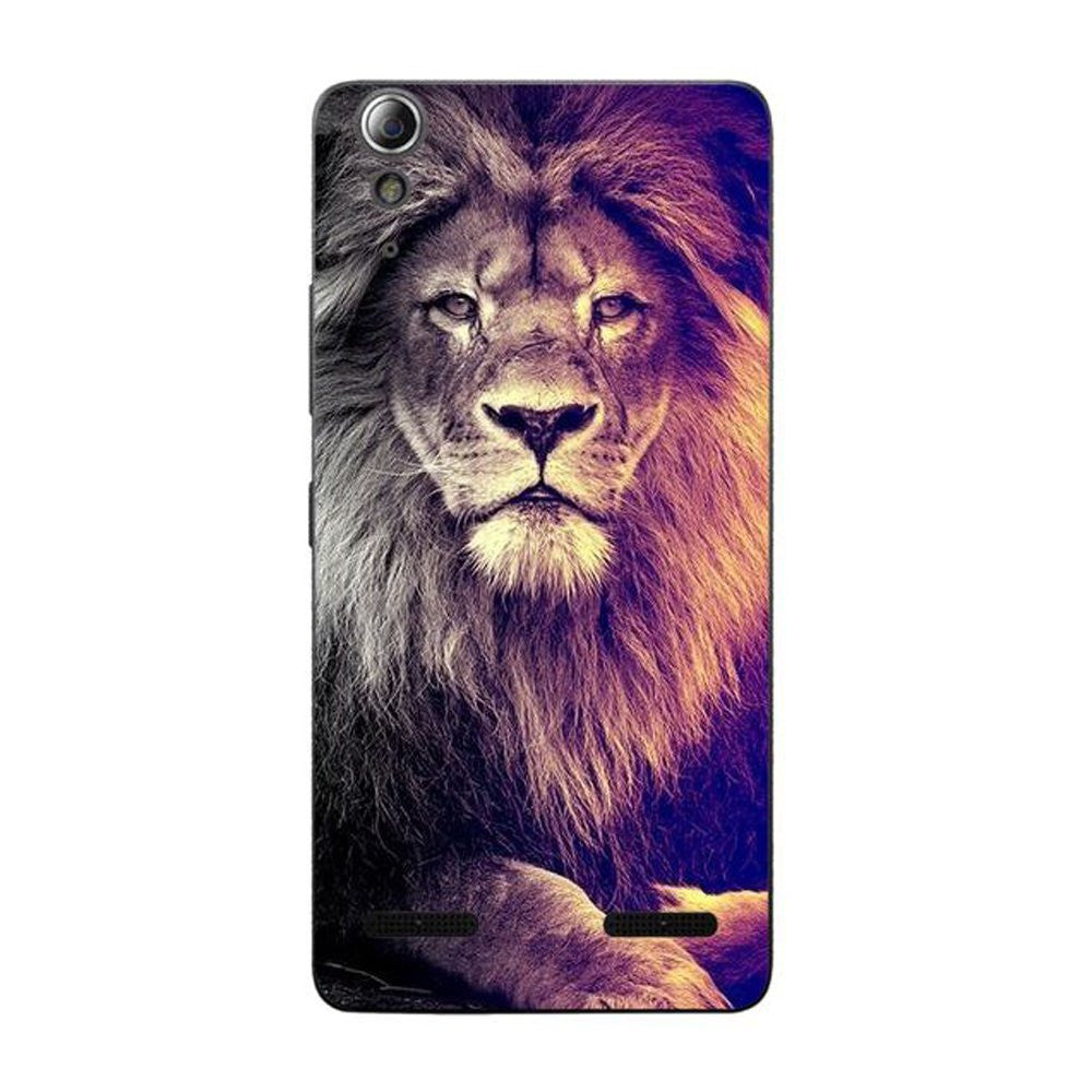 Hamee Lion / Multicolour Designer Cover For Lenovo A6000 / A 6000 Plus - Hamee India