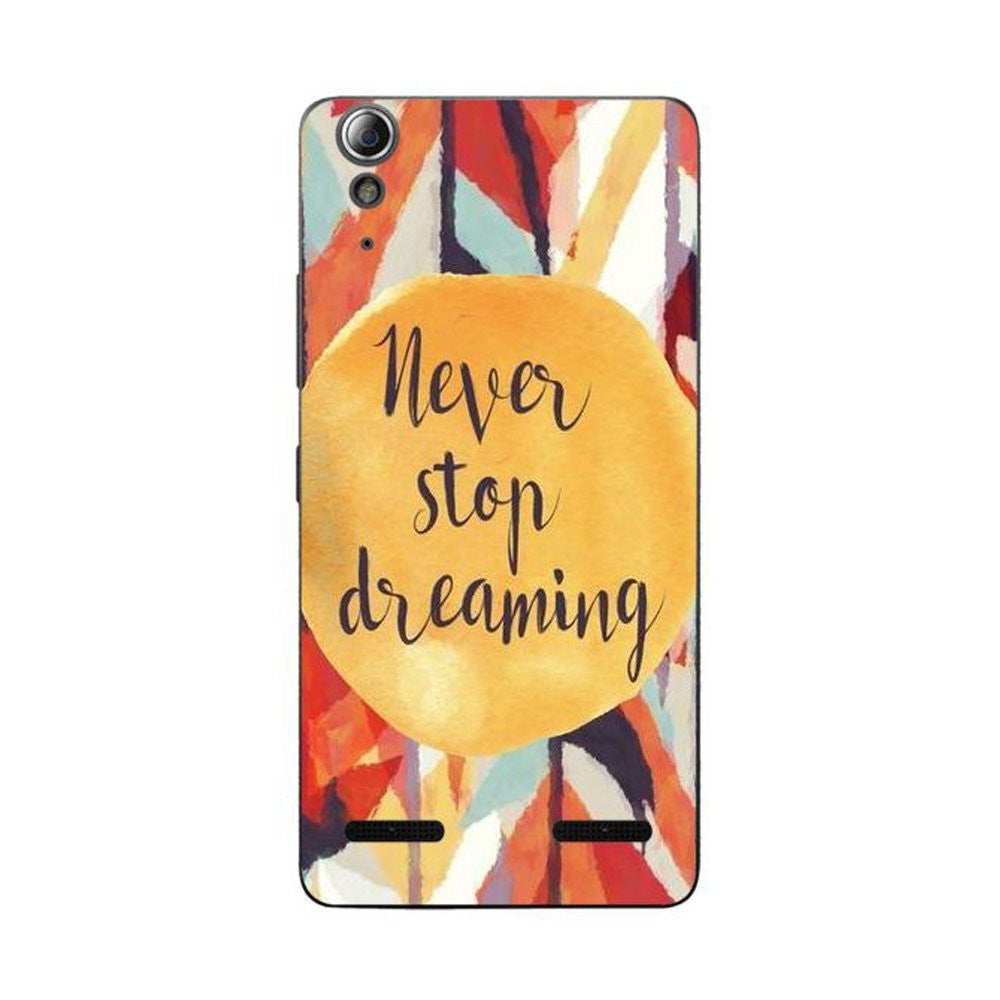 Hamee Never Stop Dreaming / Multicolour Designer Cover For Lenovo A6000 / A 6000 Plus - Hamee India