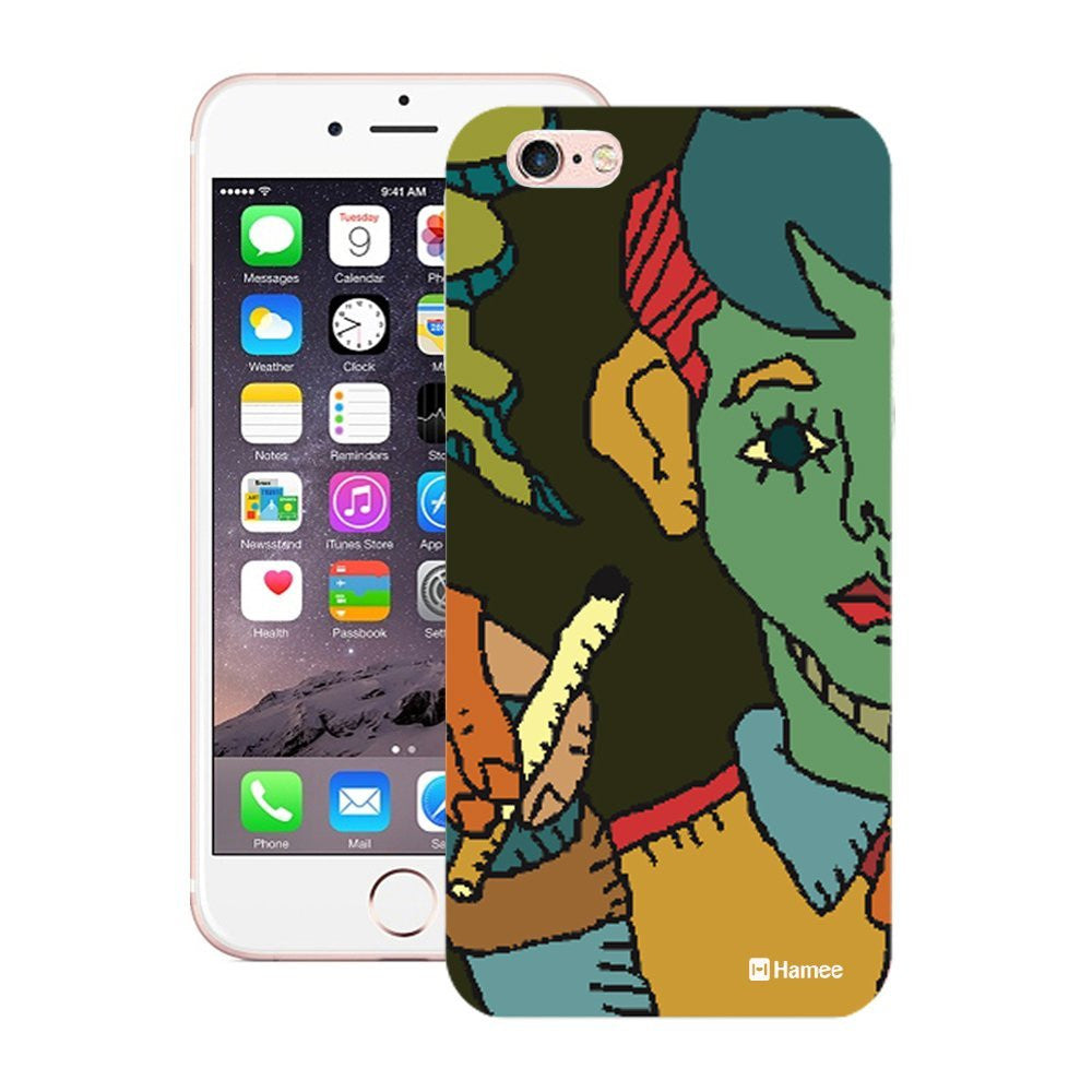 Hamee Half Green Face Designer Cover For iPhone 5 / 5S / Se-Hamee India