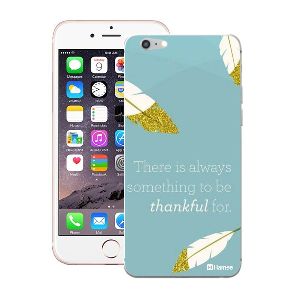Hamee Thankful Quote Blue Designer Cover For iPhone 5 / 5S / Se-Hamee India