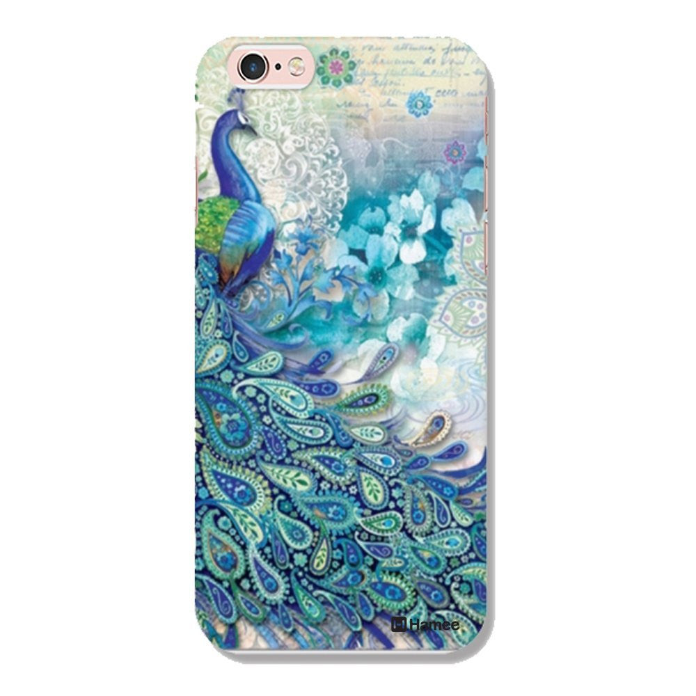 Hamee Side Peacock / Blue Designer Cover For iPhone 5 / 5S / Se-Hamee India