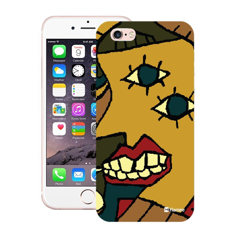 Hamee Mustard Face With Lips Designer Cover For iPhone 5 / 5S / Se-Hamee India