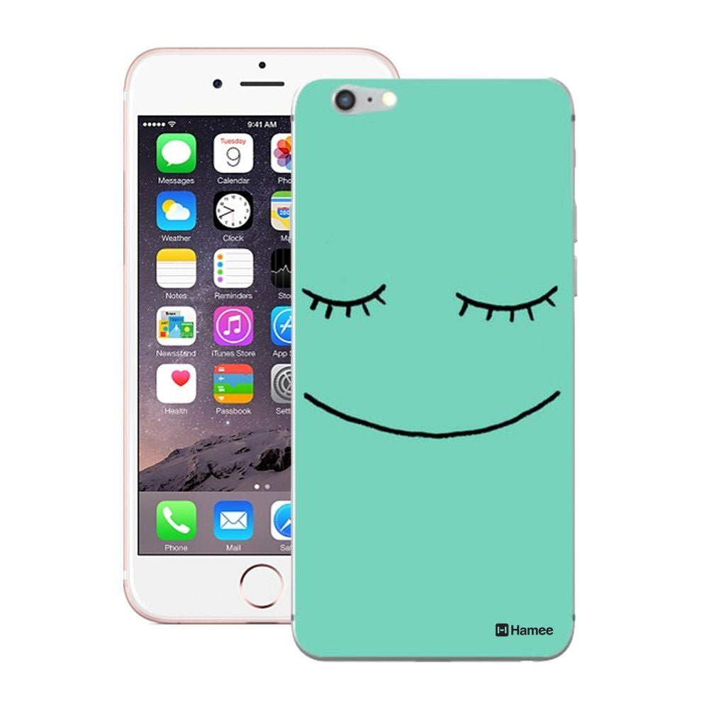 Hamee Cute Face Green Designer Cover For iPhone 5 / 5S / Se-Hamee India