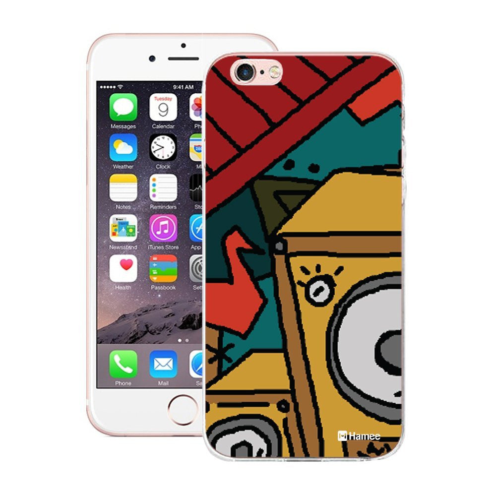 Hamee Boombox Half Designer Cover For iPhone 5 / 5S / Se-Hamee India