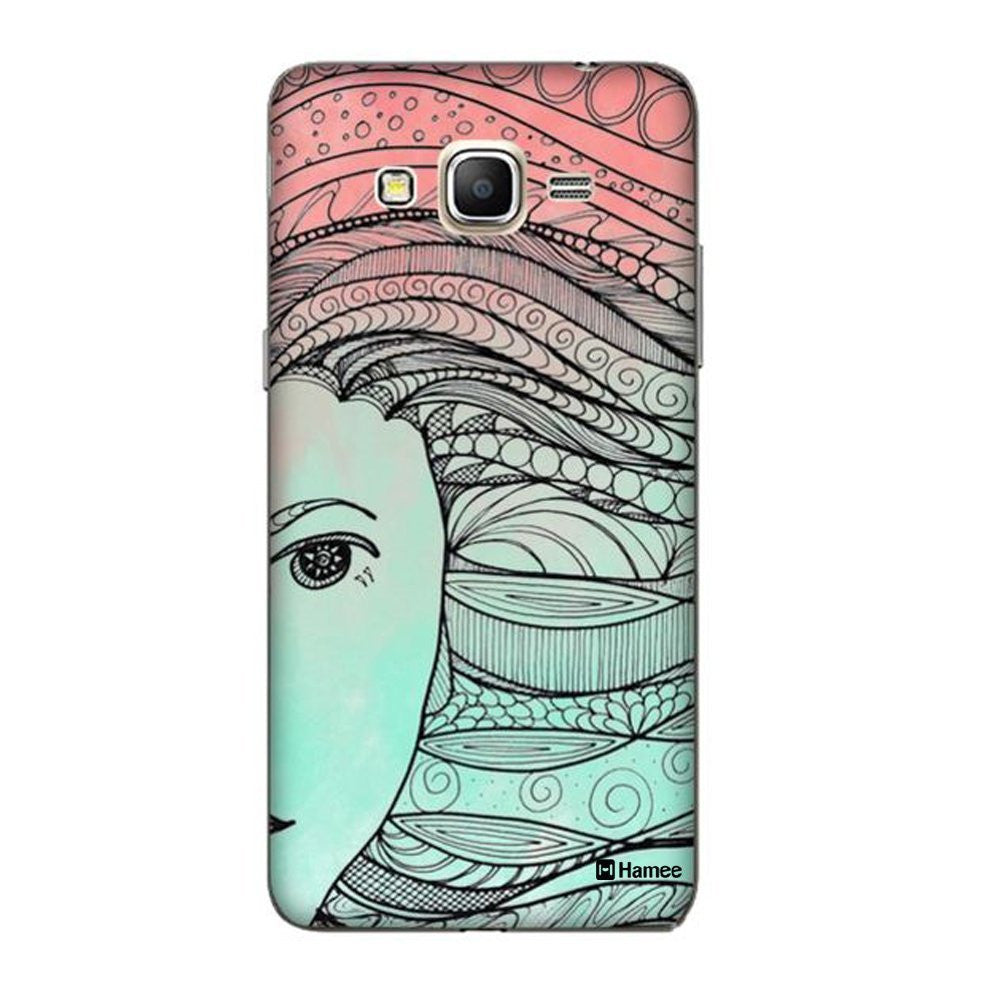 Hamee Ethnic Hair Blue X Pink Designer Cover For Samsung Galaxy On5 - Hamee India