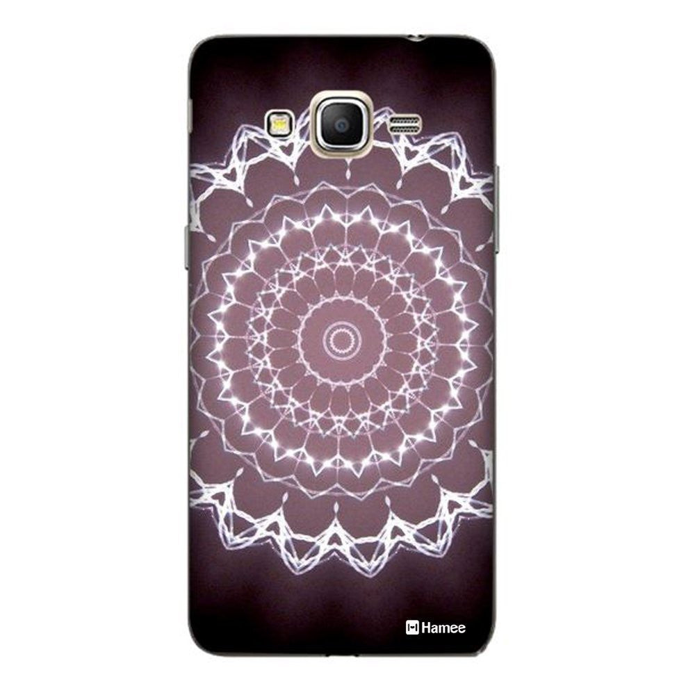 Hamee White Purple Kaleidoscope Designer Cover For Samsung Galaxy On5 - Hamee India