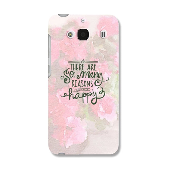 Hamee Happy Flowers / Pink Designer Cover For Xiaomi Redmi 2 / 2 Prime - Hamee India