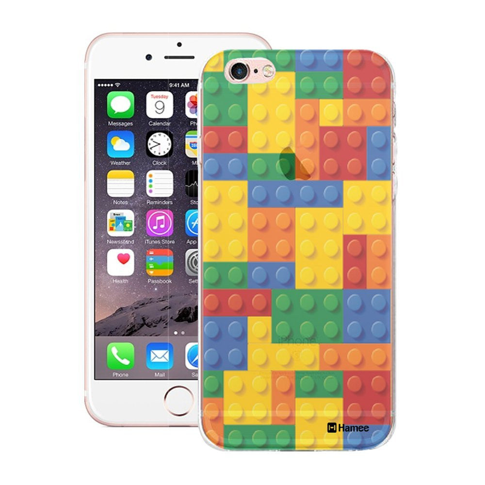 Hamee Translucent Lego Blocks Designer Cover For iPhone 5 / 5S / Se-Hamee India