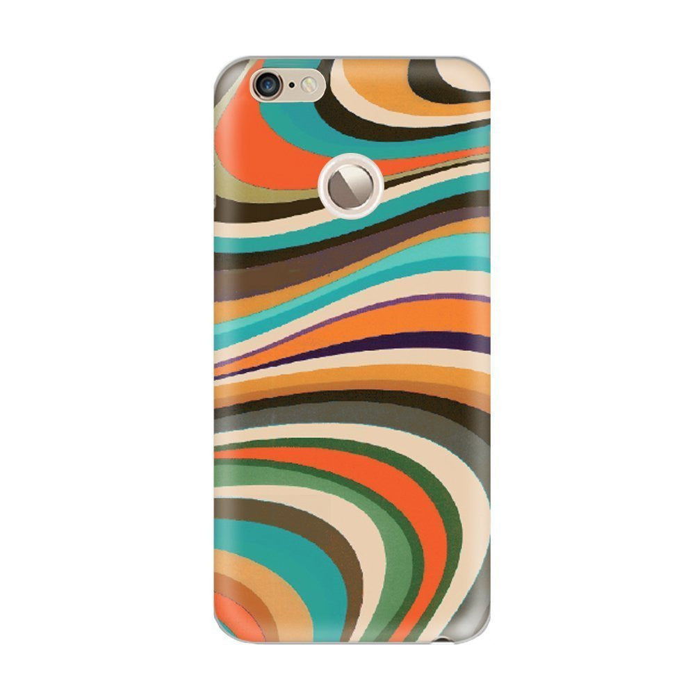 Hamee Curved Lines Customized Cover for Letv Le 1S-Hamee India