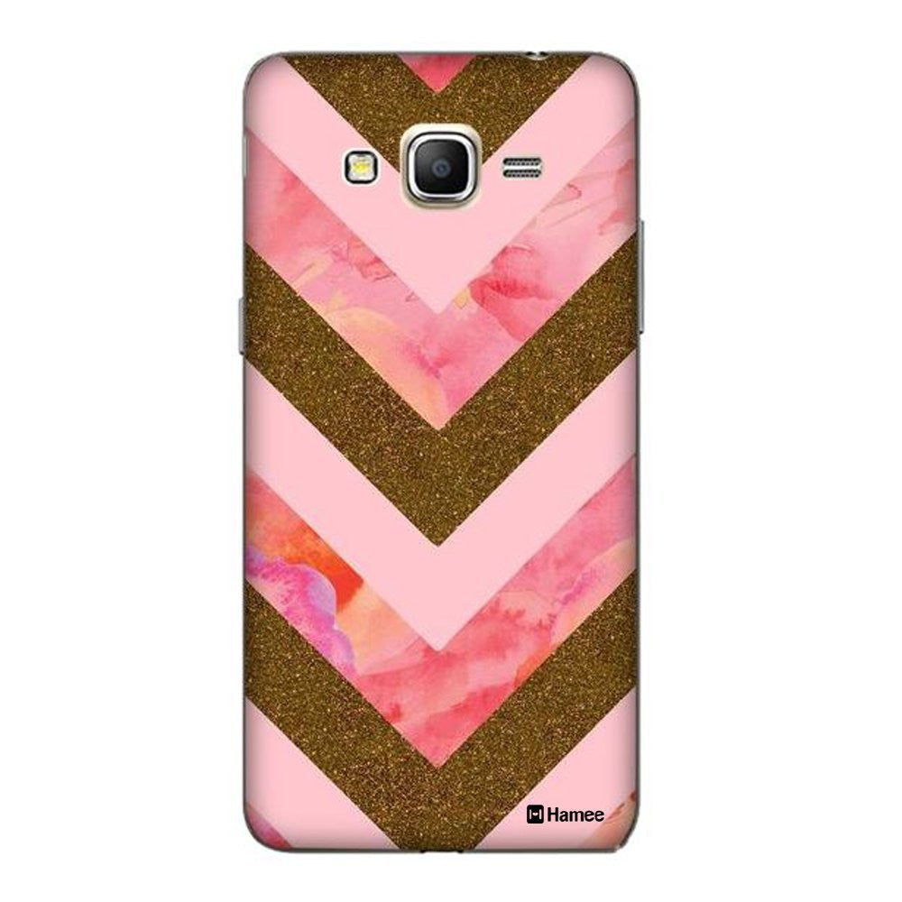 Hamee Pink Gold Arrows Designer Cover For Samsung Galaxy J3 - Hamee India