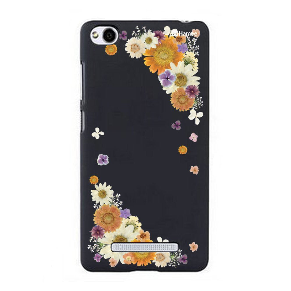 Hamee Yellow Side Flowers Designer Cover For Xiaomi Redmi 3-Hamee India
