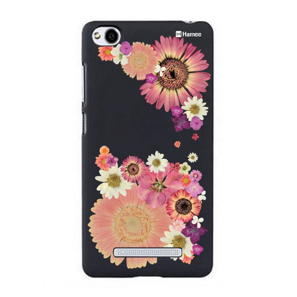 Hamee Big Pink Flowers Designer Cover For Xiaomi Redmi 3-Hamee India