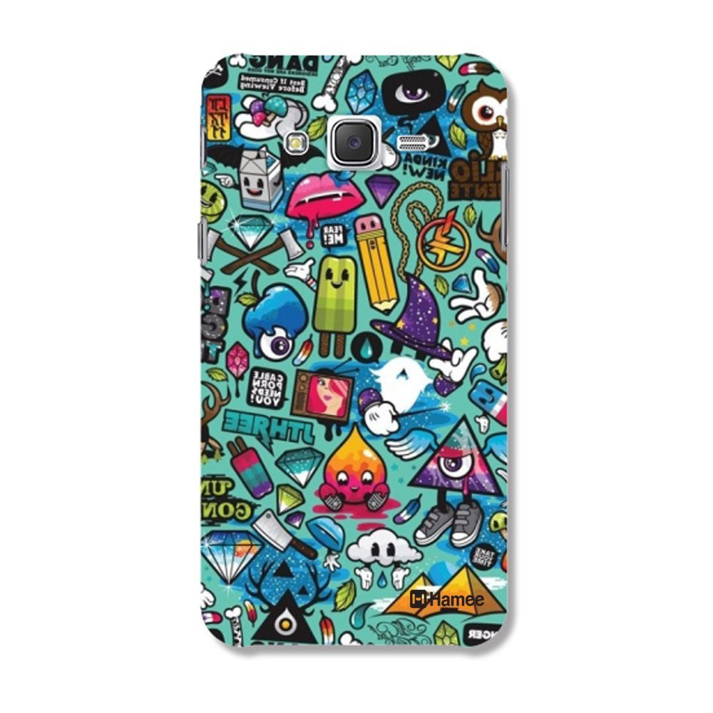 Hamee Doodles / Multicolour Designer Cover For Samsung Galaxy J7-Hamee India