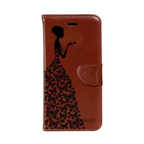 Hamee - Corner Flower Note - Premium PU Leather Flip Diary Card Pocket Case Cover Stand for Moto Z2 Play