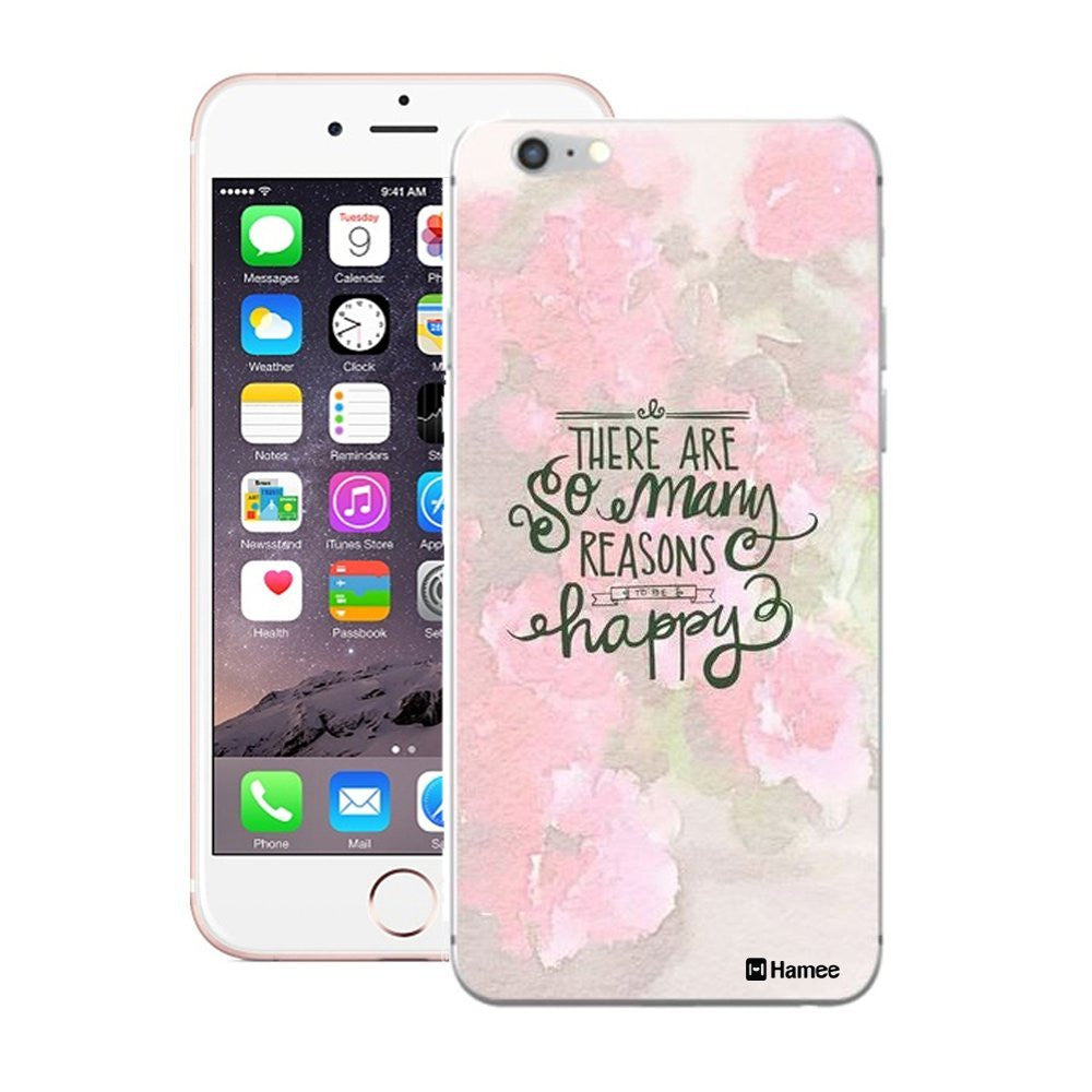 Hamee Pink Happy Floral Designer Cover For iPhone 5 / 5S / Se-Hamee India