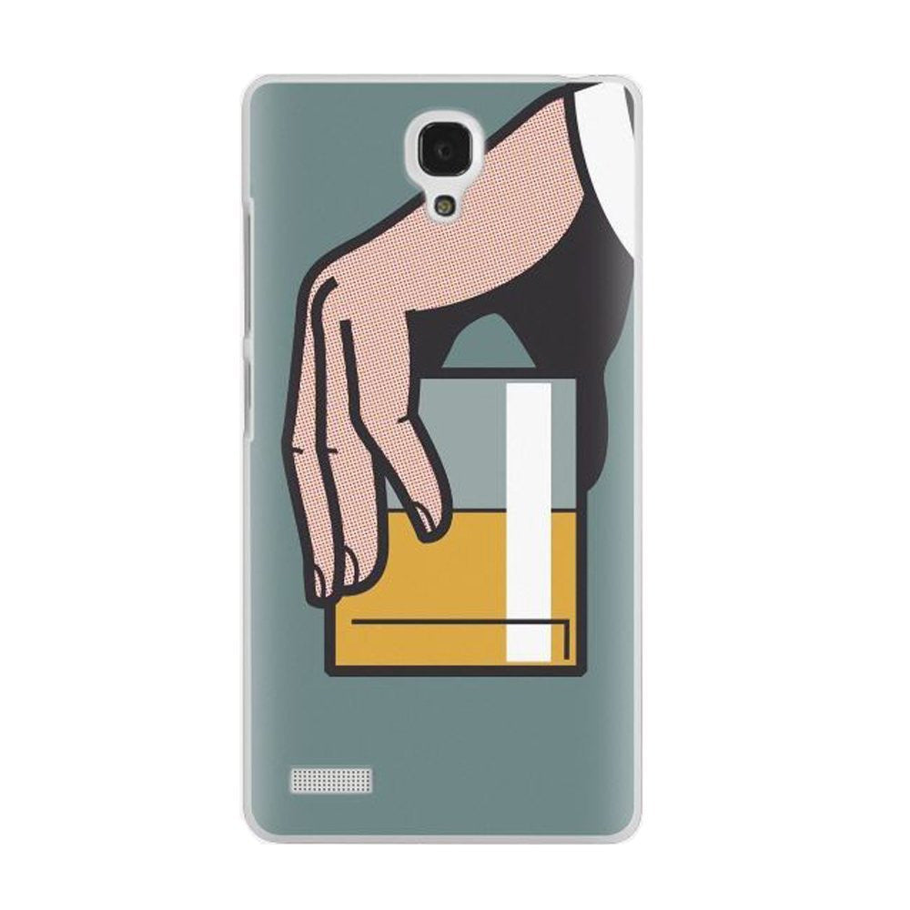 Hamee Glass In Hand / Multicolour Designer Cover For Xiaomi Redmi Note-Hamee India
