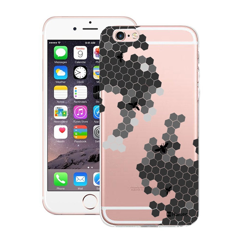 Hamee Black Bee Hive Designer Cover For Apple iPhone 6 / 6S-Hamee India