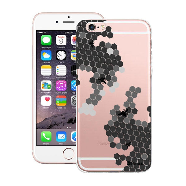 Hamee Black Bee Hive Designer Cover For Apple iPhone 6 Plus / 6S Plus - Hamee India