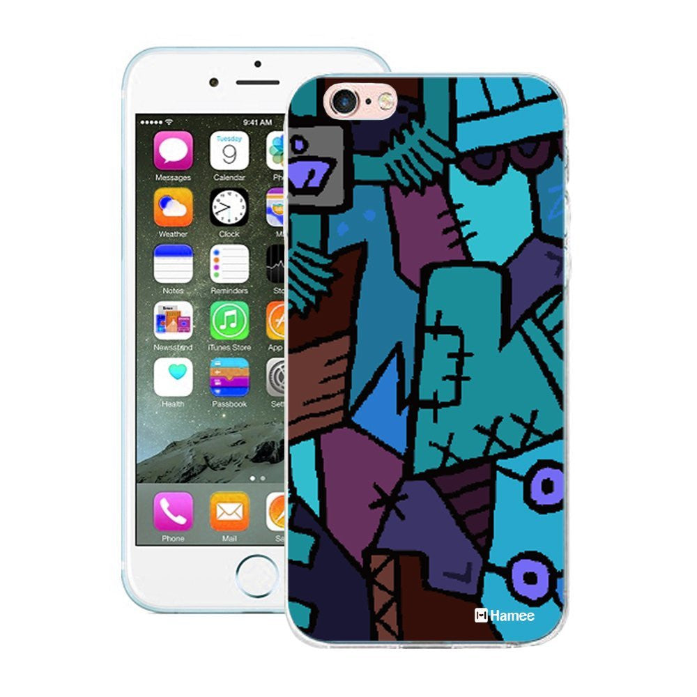 Hamee Blue Patchwork Designer Cover For Apple iPhone 6 / 6S-Hamee India