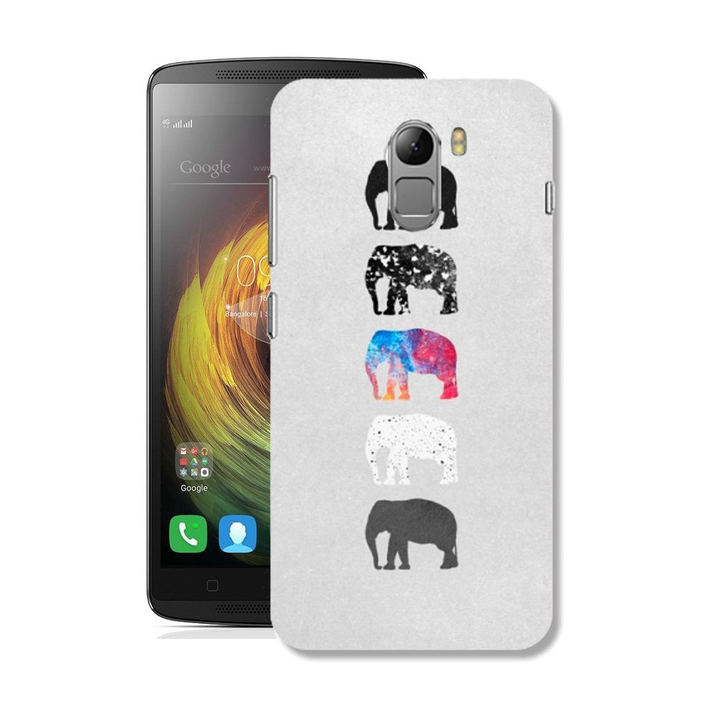 Hamee Elephants / Multicolour Designer Cover For Lenovo K4 Note-Hamee India