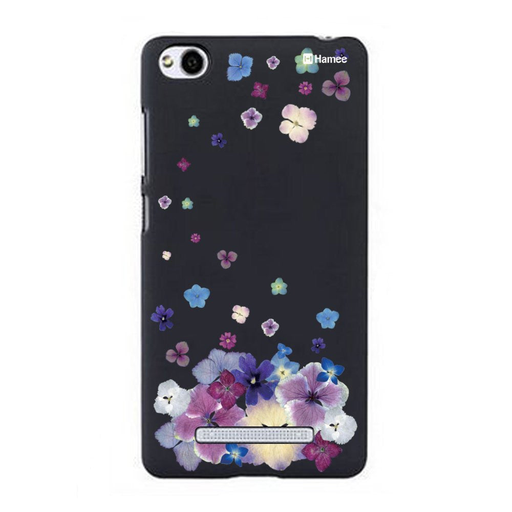 Hamee Purple Falling Flowers Designer Cover For Xiaomi Redmi 3-Hamee India
