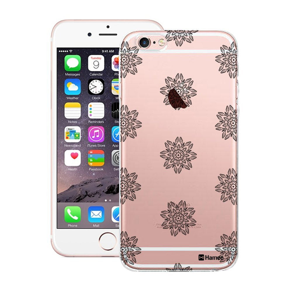 Hamee Black Mini Flowers Designer Cover For Apple iPhone 6 / 6S-Hamee India