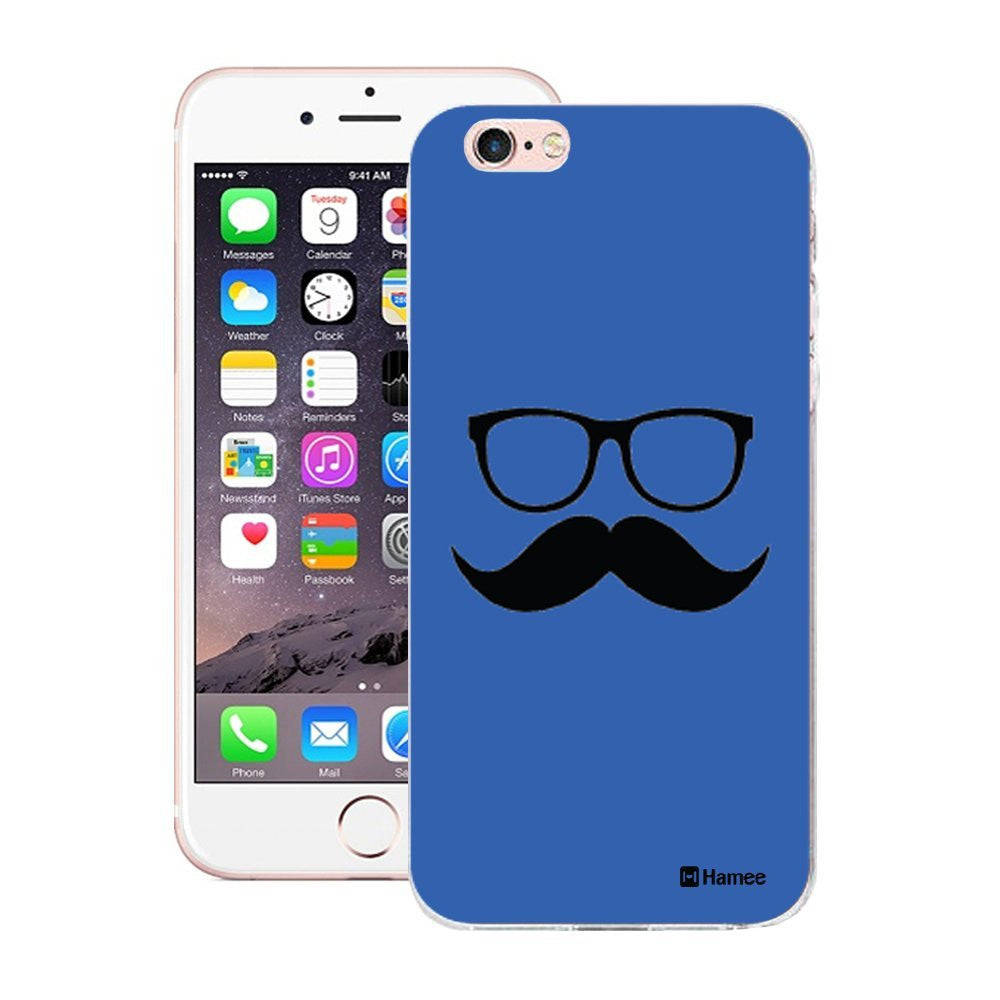 Hamee Moochie With Specs Blue Designer Cover For iPhone 5 / 5S / Se-Hamee India