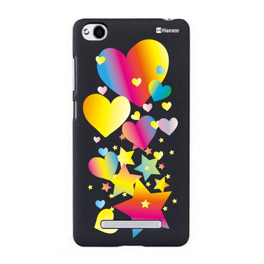 Hamee Neon Heart Star Designer Cover For Xiaomi Redmi 3-Hamee India