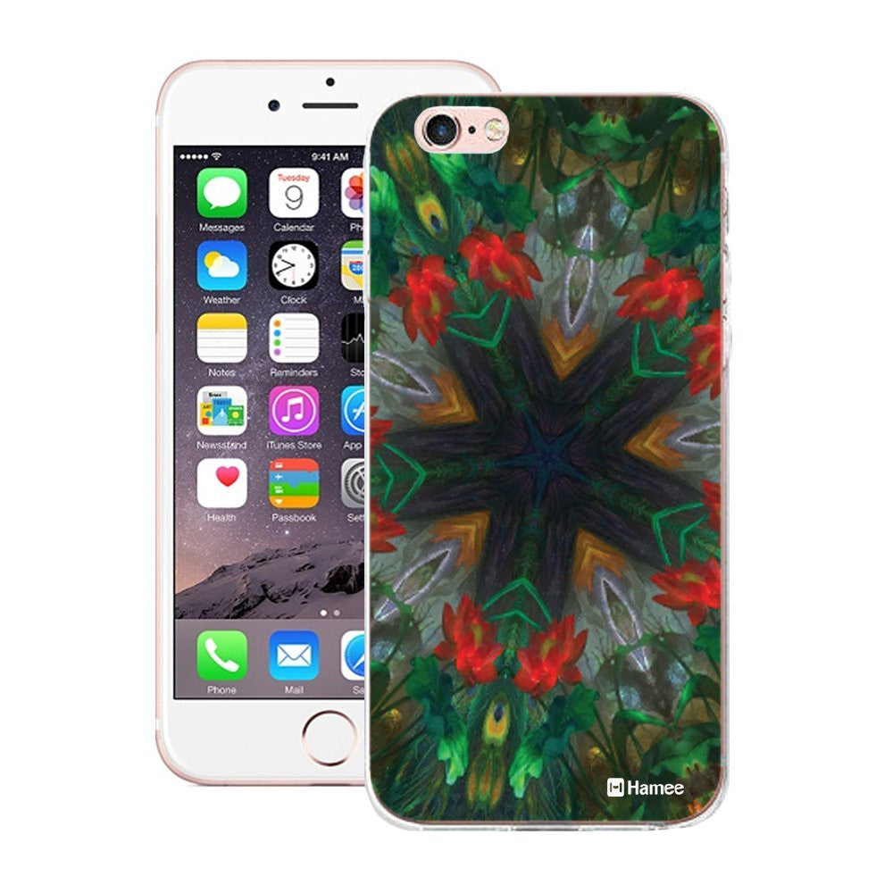 Hamee Red Green Kaleidoscope Designer Cover For Apple iPhone 6 / 6S-Hamee India