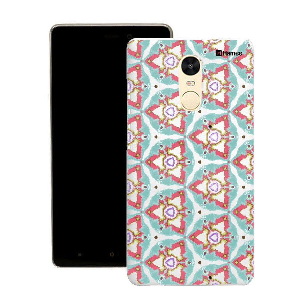 Hamee Green Kaleidoscope Triangles Customized Cover for Motorola Moto G4 Plus-Hamee India