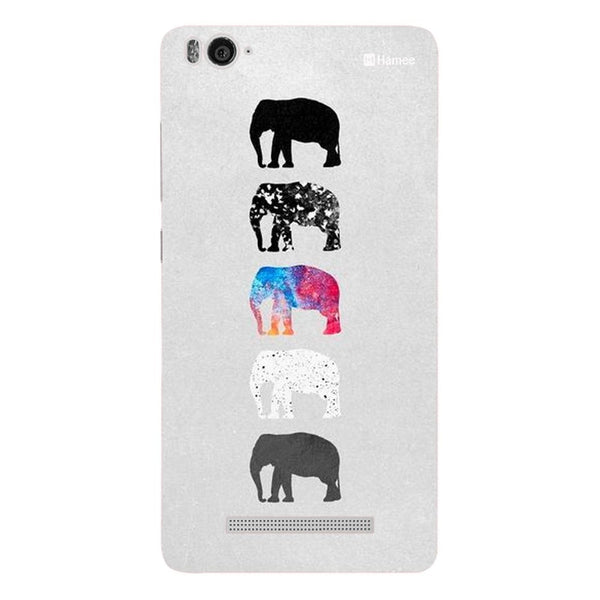 Hamee Elephants On Grey Designer Cover For Xiaomi Redmi 3-Hamee India