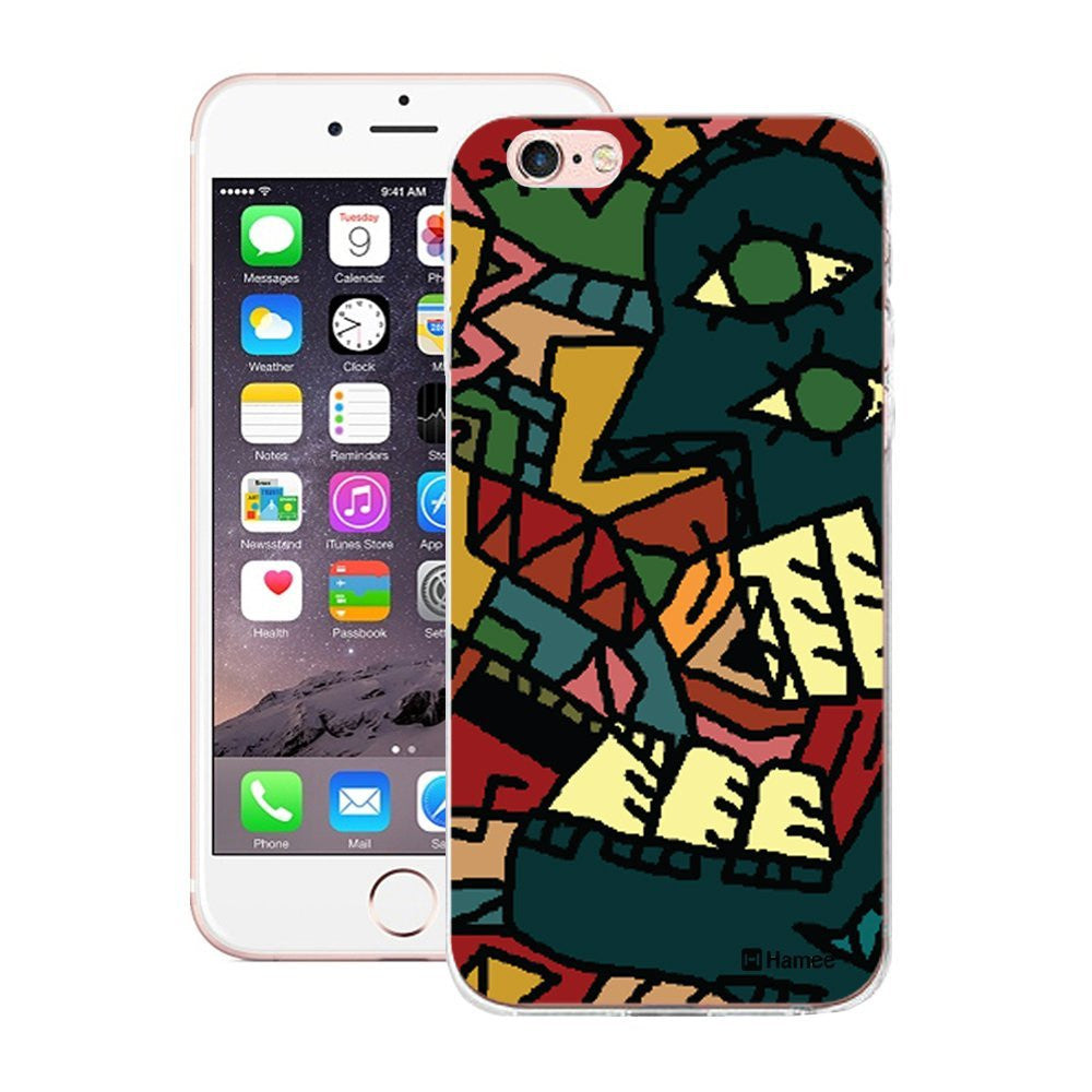 Hamee Growling Face Blue Designer Cover For Apple iPhone 6 Plus / 6S Plus-Hamee India