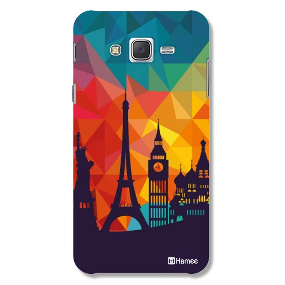 Hamee Wonders / Multicolour Designer Cover For Samsung Galaxy J7 - Hamee India