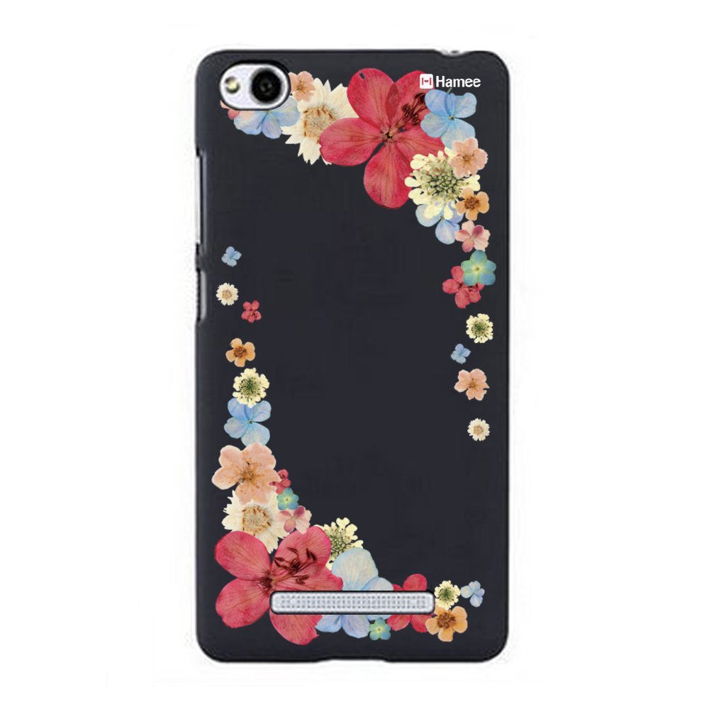 Hamee Red Side Flowers Designer Cover For Xiaomi Redmi 3-Hamee India