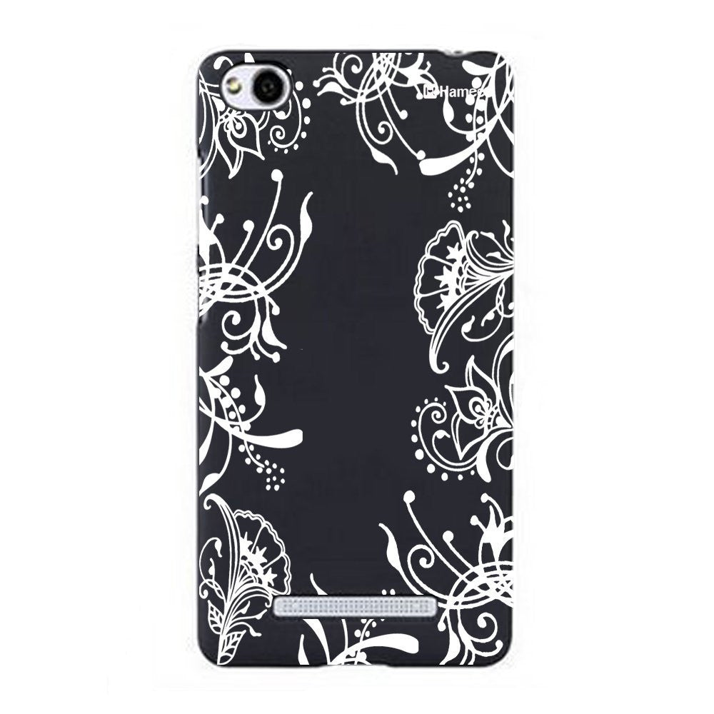 Hamee White Side Vines Designer Cover For Xiaomi Redmi 3-Hamee India