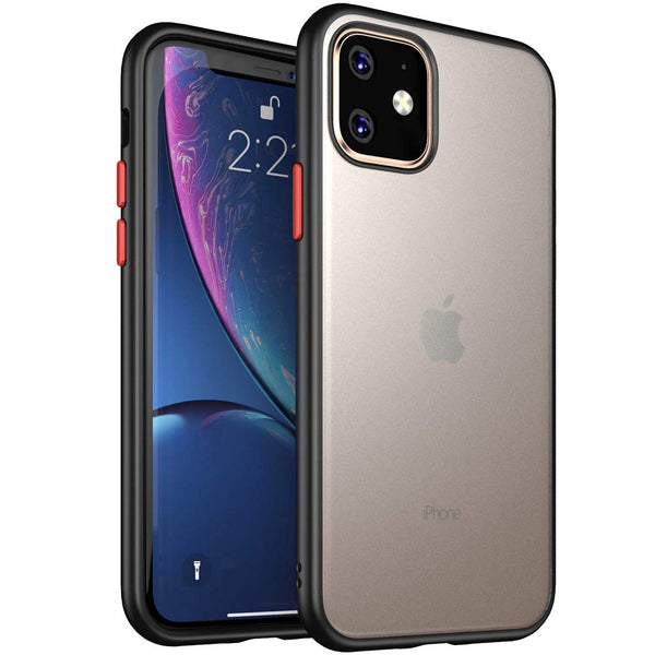 TPU Bumper Back Case for iPhone 11 (Black)