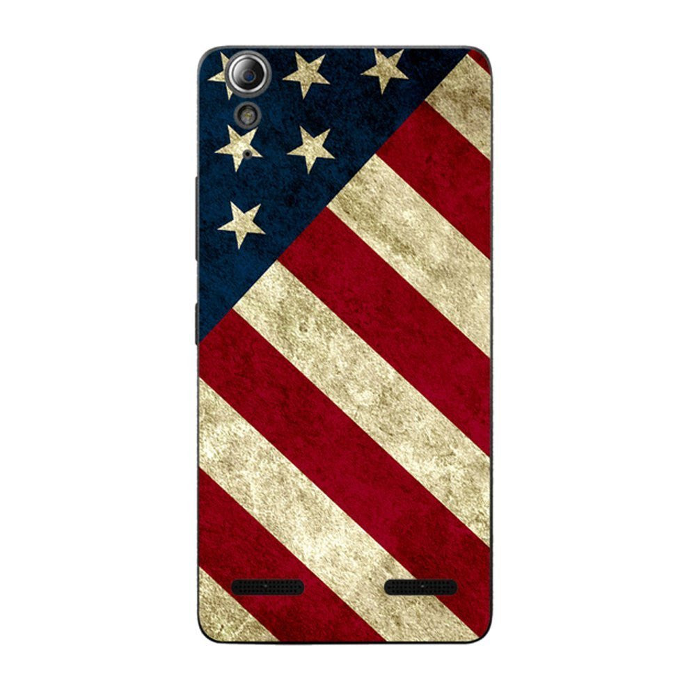 Hamee Flag / Red X Blue Designer Cover For Lenovo A6000 / A 6000 Plus - Hamee India
