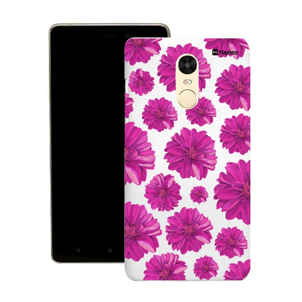 Hamee Purple Flowers Customized Cover for Motorola Moto G4 Plus-Hamee India